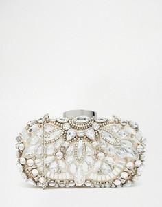 Серебристый клатч‑футляр с бисером ALDO - Серебряный
