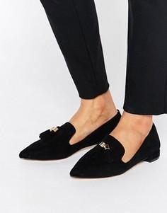 Остроносые туфли на плоской подошве с кисточками Carvela Moss - Черный