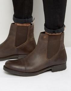 Кожаные ботинки челси Jack & Jones Simon - Коричневый