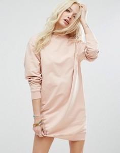 Платье-свитшот в стиле oversize ASOS Ultimate - Розовый