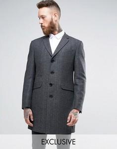 Пальто с шевронным узором Heart & Dagger - Серый