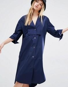 Платье-рубашка Weekday - Темно-синий