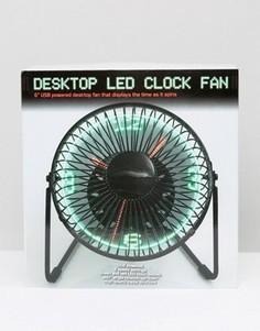 Настольные часы-вентилятор со светодиодной подвеской - Мульти Gifts