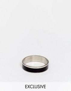 Черное кольцо Reclaimed Vintage - Серебряный