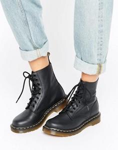 Ботинки с 8 парами люверсов Dr Martens Pascal - Черный