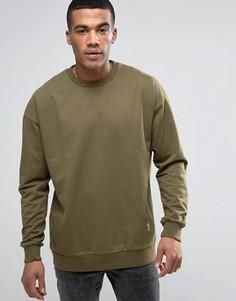 Oversize-свитшот с заниженной линией плеч Religion - Зеленый