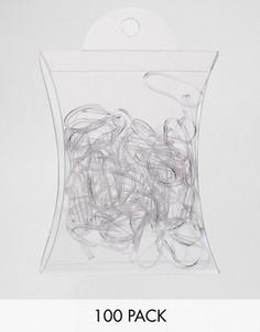 Набор из 100 резинок для волос ASOS No More Snags - Прозрачный