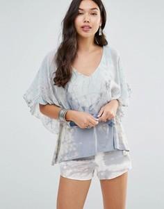 Блузка с V-образным вырезом Gypsy 05 - Синий