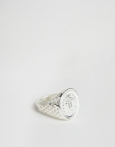 Серебристое кольцо Chained & Able Old English - Золотой