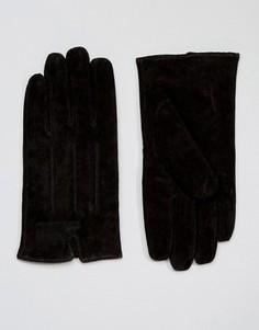 Черные замшевые перчатки Barneys - Черный Barneys Originals