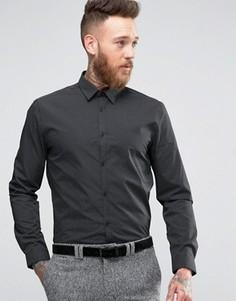 Строгая черная рубашка в крапинку New Look - Черный