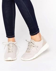Бледно-розовые шерстяные кроссовки с отделкой блестками Le Coq Sportif R9Xx - Серый