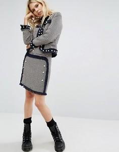 Твидовая мини-юбка Sister Jane - Черный