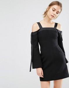 Платье с открытыми плечами C/meo Collective - Черный
