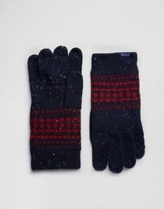 Темно-синие перчатки на основе овечьей шерсти с узором Фэйр-Айл Jack Wills - Темно-синий