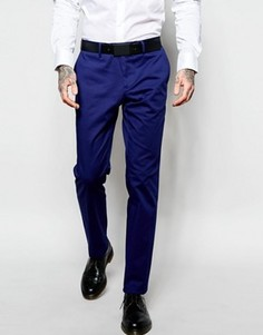 Брюки слим кобальтово-синего цвета Sisley - Синий