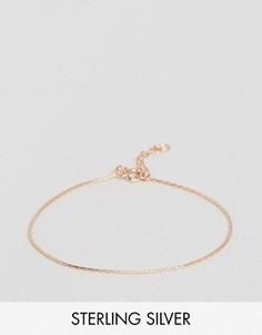 Серебряный браслет-цепочка с покрытием розовым золотом ASOS - Медный
