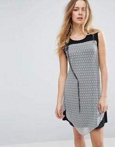 Платье с кружевной накладкой Jasmine - Черный