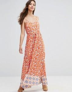 Платье макси с принтом и контрастным краем Minkpink - Мульти