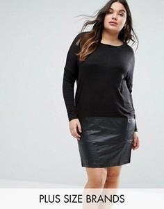 Платье с юбкой из полиуретана Juna Rose Plus Edition - Черный Junarose