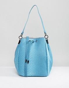 Сумка с эффектом змеиной кожи Pauls Boutique - Синий