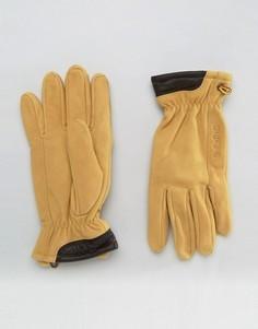 Перчатки из натуральной замши Timberland - Бежевый