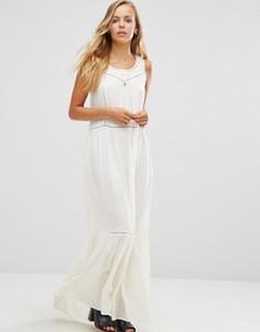 Платье макси с сетчатыми вставками Maison Scotch - Белый
