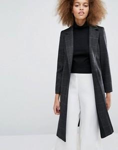 Пальто в клетку Helene Berman Zoe - Черный