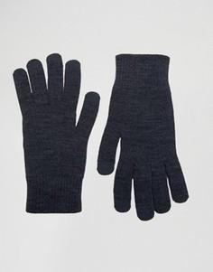 Синие перчатки для сенсорных гаджетов ASOS - Синий