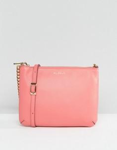 Кожаная сумка через плечо Modalu - Розовый