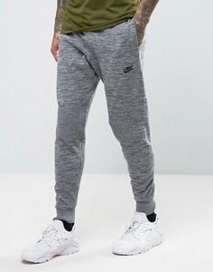 Серые зауженные джоггеры Nike Tech Knit 832180-091 - Серый