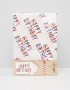 Подарочная упаковочная бумага с принтом Happy Birthday Ohh Deer - Мульти