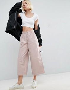 Выбеленные брюки с широкими штанинами ASOS - Мульти