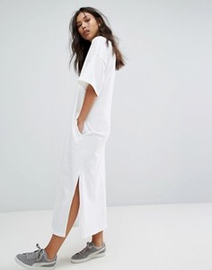 Белое платье-футболка макси Puma - Белый