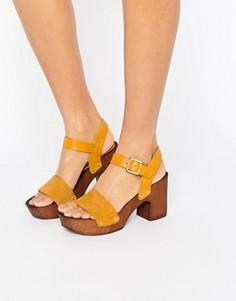 Замшевые босоножки на каблуке ASOS TALLA - Желтый