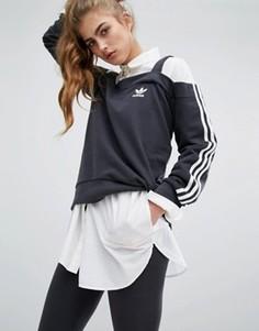 Топ с открытыми плечами adidas - Черный