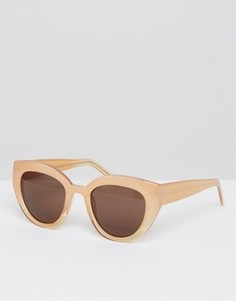 Солнцезащитные очки в массивной оправе AJ Morgan - Бежевый