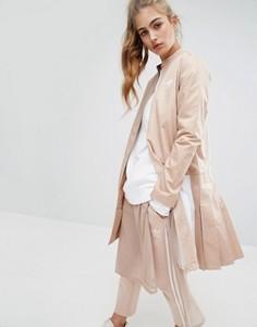 Саржевая куртка со складками adidas - Розовый