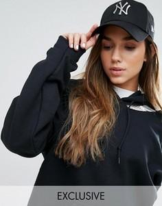 Черная кепка с металлическим логотипом  NY New Era 9Forty - Черный