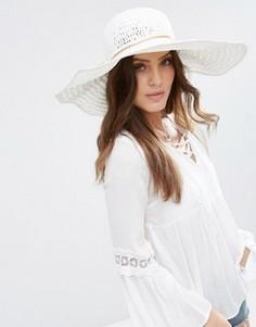 Летняя широкополая шляпа Hat Attack - Белый