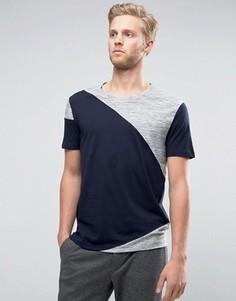 Темно-синяя oversize-футболка со вставками HUGO by Hugo Boss Dahoo - Черный