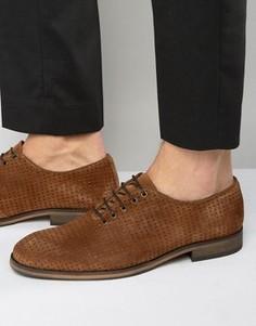 Туфли с перфорацией Selected Homme Bolton - Коричневый