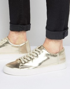 Золотистые низкие кроссовки Systvm - Золотой