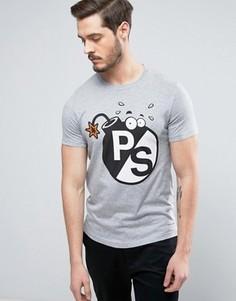 Серая меланжевая футболка слим PS by Paul Smith - Серый