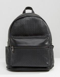 Черный фактурный рюкзак Liquorish - Черный