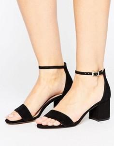 Кожаные сандалии с блочным каблуком ALDO Villarosa - Черный