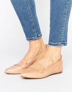 Кожаные туфли телесного цвета на плоской подошве ALDO Cherryhill - Бежевый