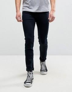 Синие джинсы суперскинни Rollas Stinger - Темно-синий Rollas