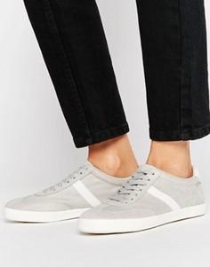 Полосатые кроссовки со шнурками ASOS DELPHINE - Серый