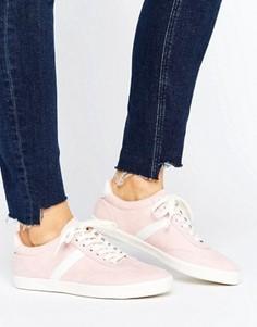 Полосатые кроссовки со шнурками ASOS DELPHINE - Розовый